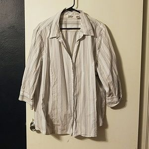 Riders 3/4 sleeve button-up